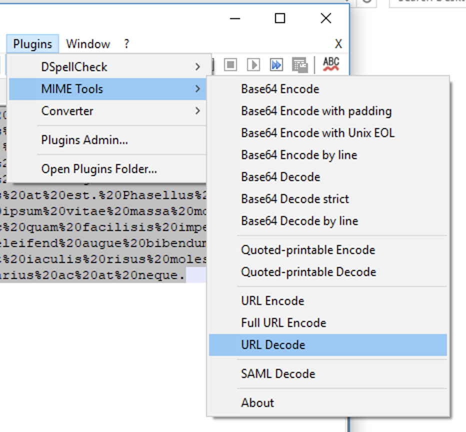 picture relating to Quoted Printable Decoding referred to as Backlink Decode getting Notepad++ - Digi Dank