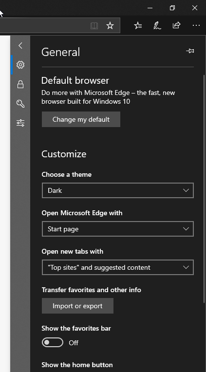 Microsoft Edge - Dark Mode