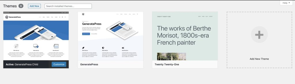 Wordpress Theme Deleted