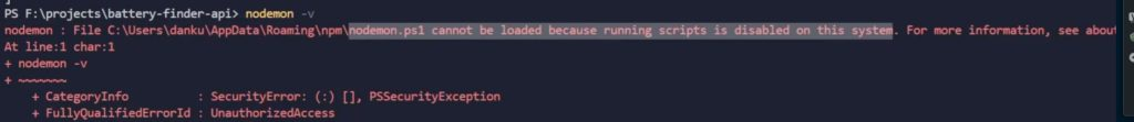 cannot be loaded because running scripts is disabled