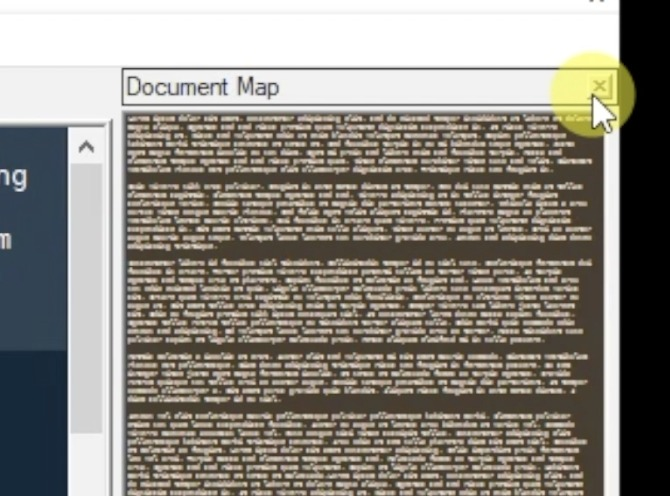 Notepad++ Close Document Minimap