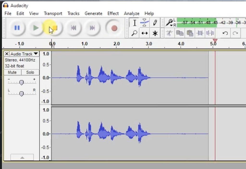 Audacity - Blue Yeti Microphone working